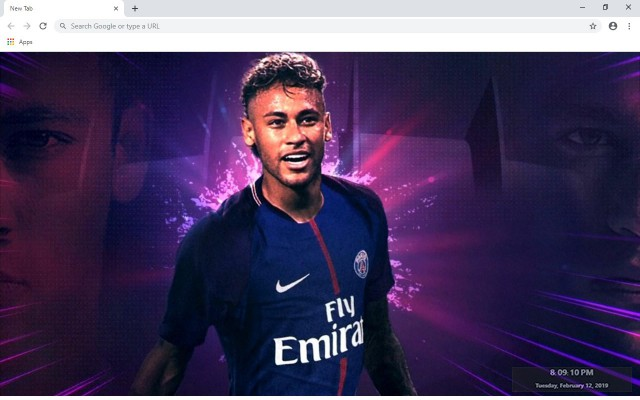 Neymar JR New Tab & Wallpapers Collection