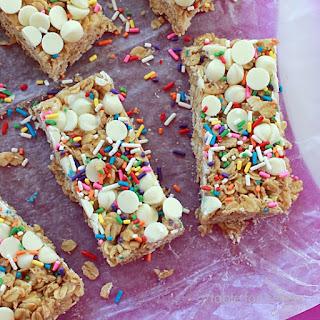No Bake Cake Batter Granola Bars