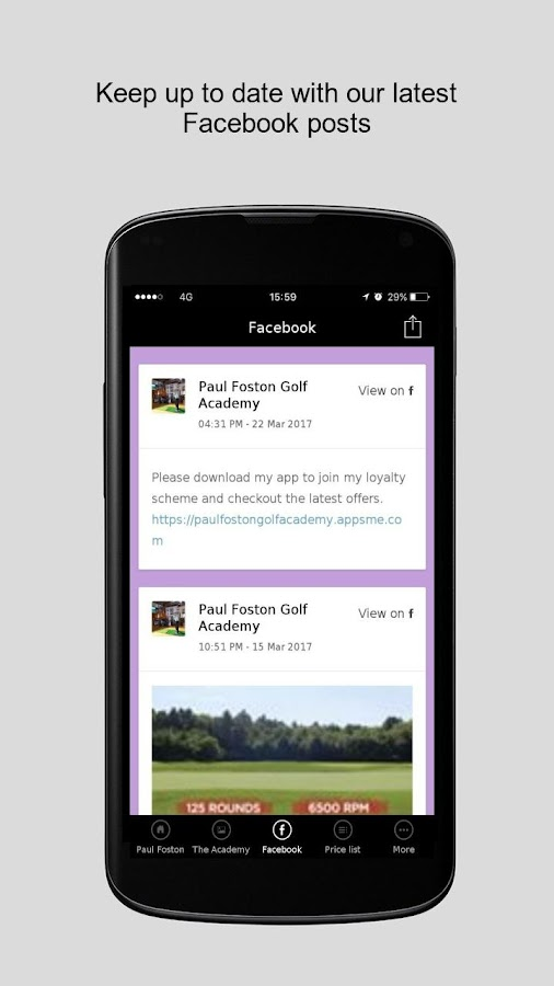 Paul Foston Golf Academy- screenshot