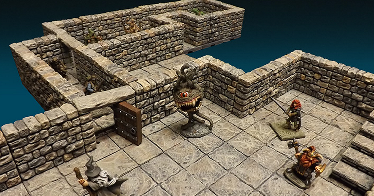 Designing Dungeon Crawl Tiles for 3D Printing at Home