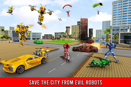 Bee Robot Car Transformation Game: Robot Car Games 1.0.7 screenshots 3
