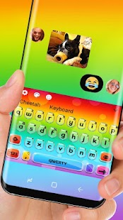 Colorful rainbow Keyboard - náhled