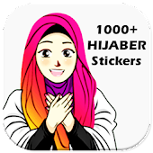 1000+ Cute Hijab Islamic Sticker for WhatsApp
