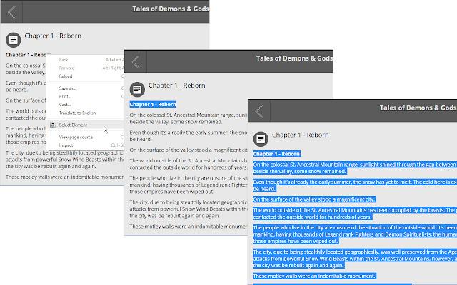Element Text Selector