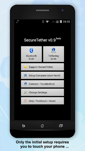 SecureTether - Secure no root Bluetooth tethering 0.9.3 screenshots 1