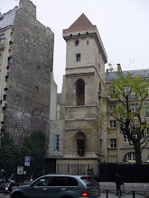 Photo: At 20 Rue Etienne Marcel, we find the Tour de Jean-Sans-Peur (Fearless John's Tower). In 1407, Jean Duke of Burgundy arranged the assassination of rival Duke Louis d'Orleans; then, to avoid reprisals, he built this tower and closeted himself in a fortified bedroom on the top floor – not that fearless! In spite of this, he was killed by his rivals in 1419. The tower is connected to the Hotel de Bourgogne, which contains inside a tower of the Wall.