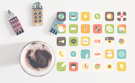 Coffee Mood launcher theme