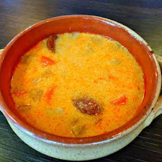 Hungarian Potato and Sausage Soup.