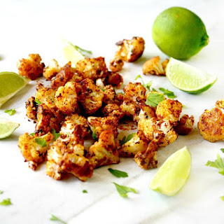 Roasted Cauliflower with Chipolte and Lime (Vegan, Gluten-Free, Dairy-Free, Paleo-Friendly).