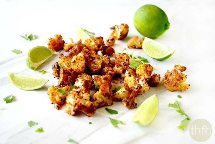 Roasted Cauliflower with Chipolte and Lime (Vegan, Gluten-Free, Dairy-Free, Paleo-Friendly) Recipe