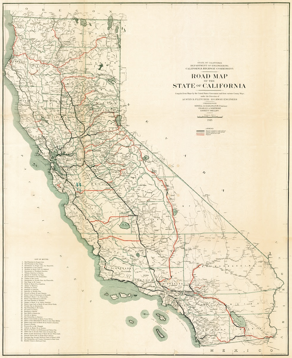 California Highway Map on