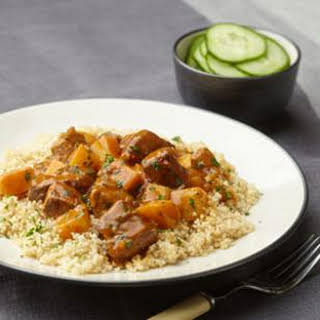 Couscous with Rutabaga & Beef Stew.