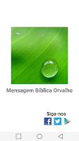 Screenshot of Mensagem Bíblica Orvalho