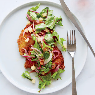 Pork Milanese with Dandelion Green Salad