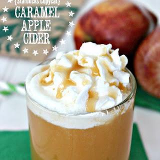 Copycat Starbucks Apple Cider With Caramel.