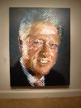 Photo: Bill Clinton Painting.