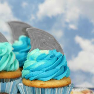 Shark Tail Cupcakes.