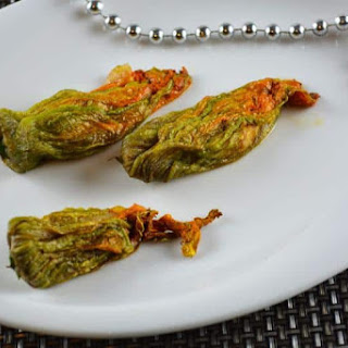 Foie Gras Stuffed Zucchini Flowers Recipe
