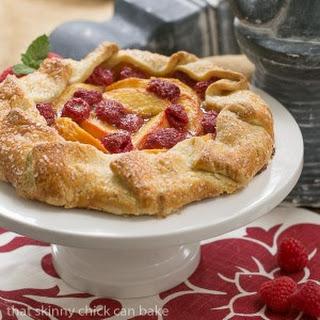 Peach Raspberry Galette #ProgressiveEats