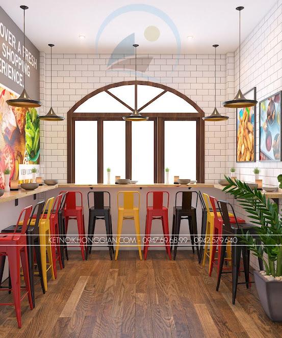 thiết kế cửa hàng gà rán đài loan 5