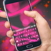 Pink Neon Color Keyboard