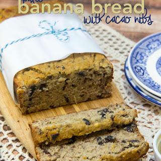 Paleo Banana Bread with Cacao Nibs.