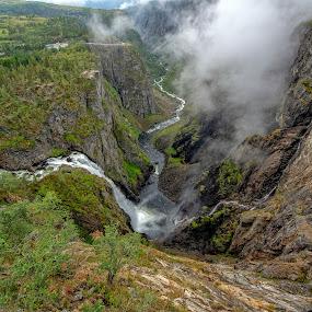 Vøringsfossen by Svein Hurum - Landscapes Mountains & Hills ( waterfall, norway )