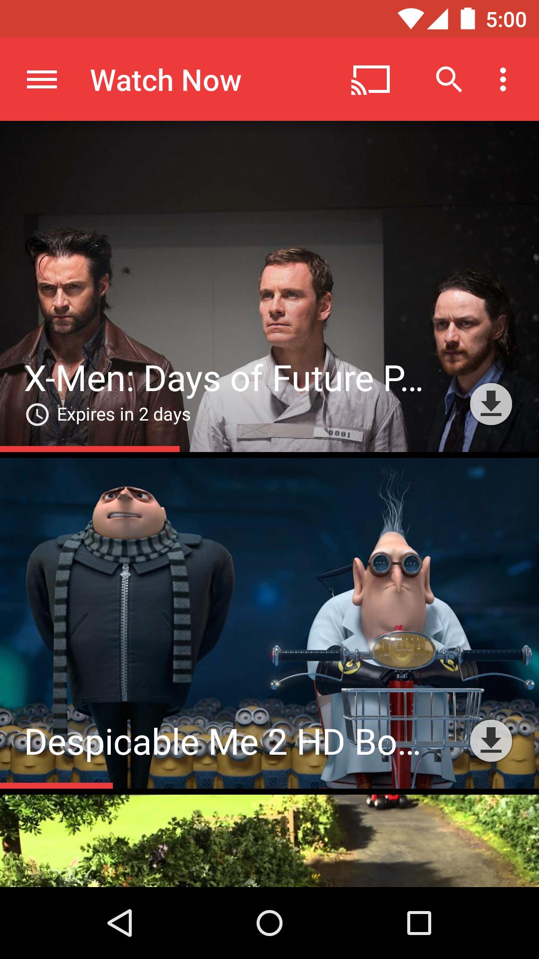 Google Play Movies & TV screenshot #1