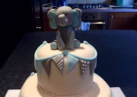 Elephant themed christening cake