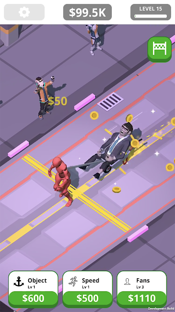 Idle Tap Strongman Android App Screenshot