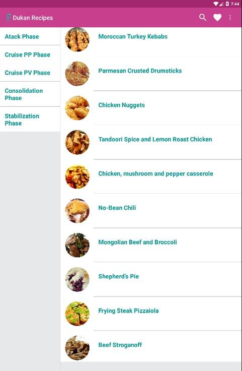 Dukan Diet Recipes- screenshot