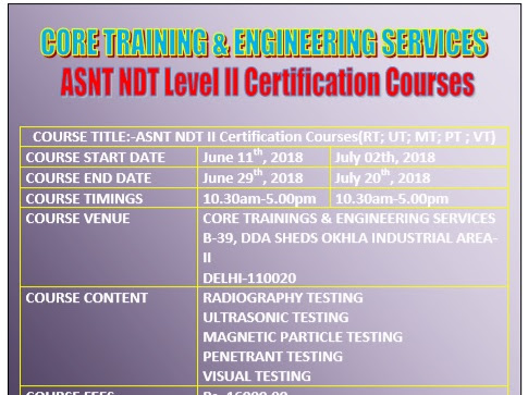 Core NDT Training & Engineering Services