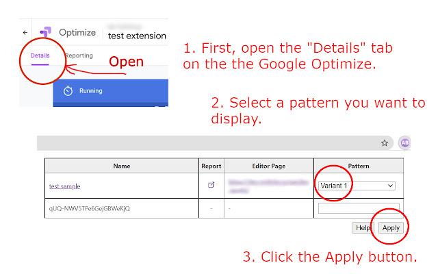 Google Optimize AB Selector