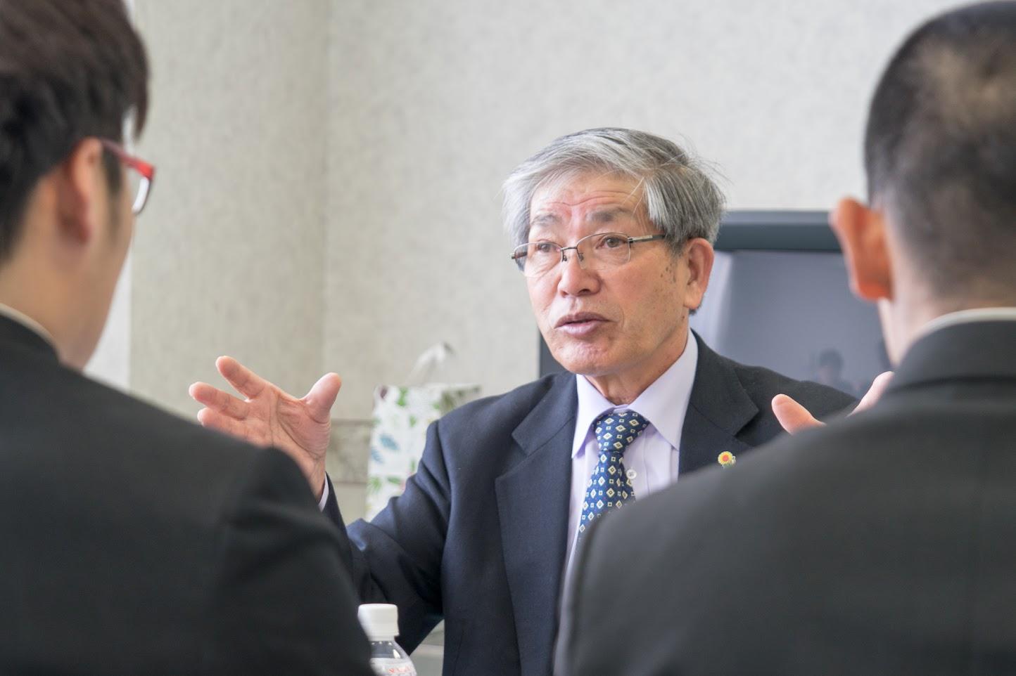 熱く語る高田理事長