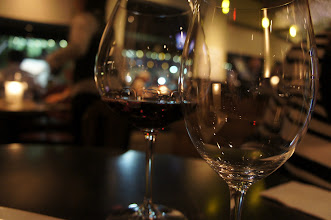 Photo: I love the way the Pinot Noir coated the glass.