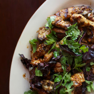 Grilled 5-Spice Barbecue Chicken Wings with Herbs