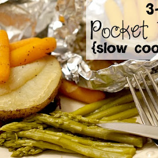 3-Ingredient Pocket Dinner {Slow-cooker Style}