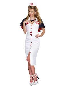 Dräkt sjuksköterska, lång