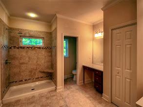 Photo: The master bath in the LEIGHTON