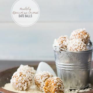 Healthy Apricot & Coconut Date Balls {GF, Vegan}.