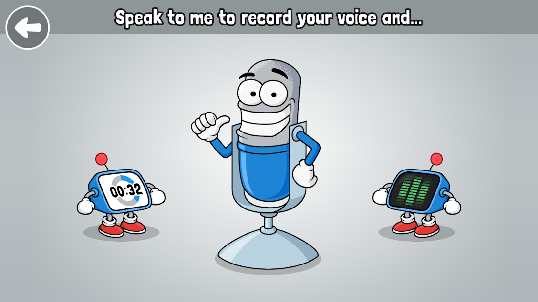VoiceTooner - Voice changer with cartoons Android App Screenshot