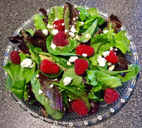 Raspberry-goat Cheese Salad/raspberry Vinaigrette Recipe