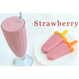 Strawberry Smoothie & Strawberry Popsicle