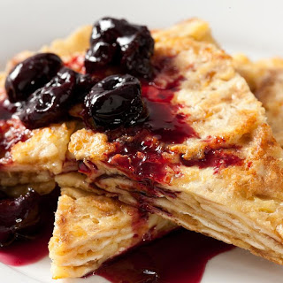 Matzo Brei with Roasted Cherries