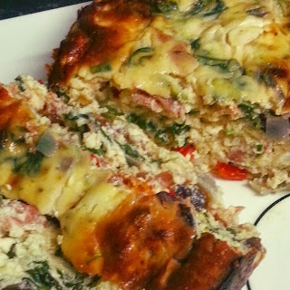 Sundried Tomato, Proscuito and Goats Cheese Bake