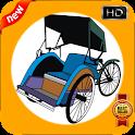 Cadre Photo cyclo-pousse icon