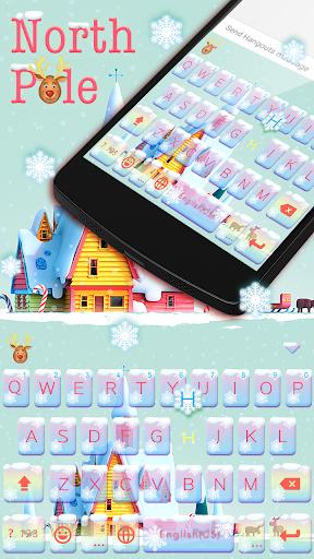 North Pole Emoji KeyboardTheme