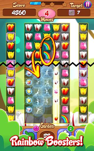 Tulip Crush 🌷 Match 3 Beautifully 🐝 Flower Game ss3