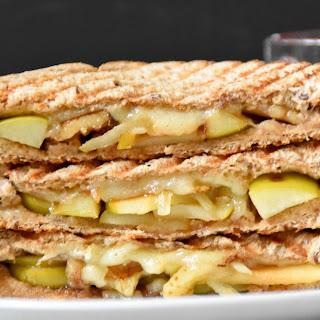Apple comte cheese walnut Panini.