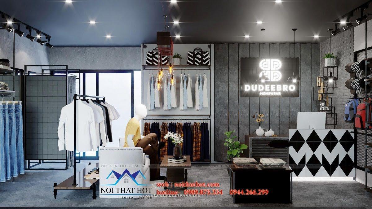 cửa hàng quần áo nam phong cách vintage